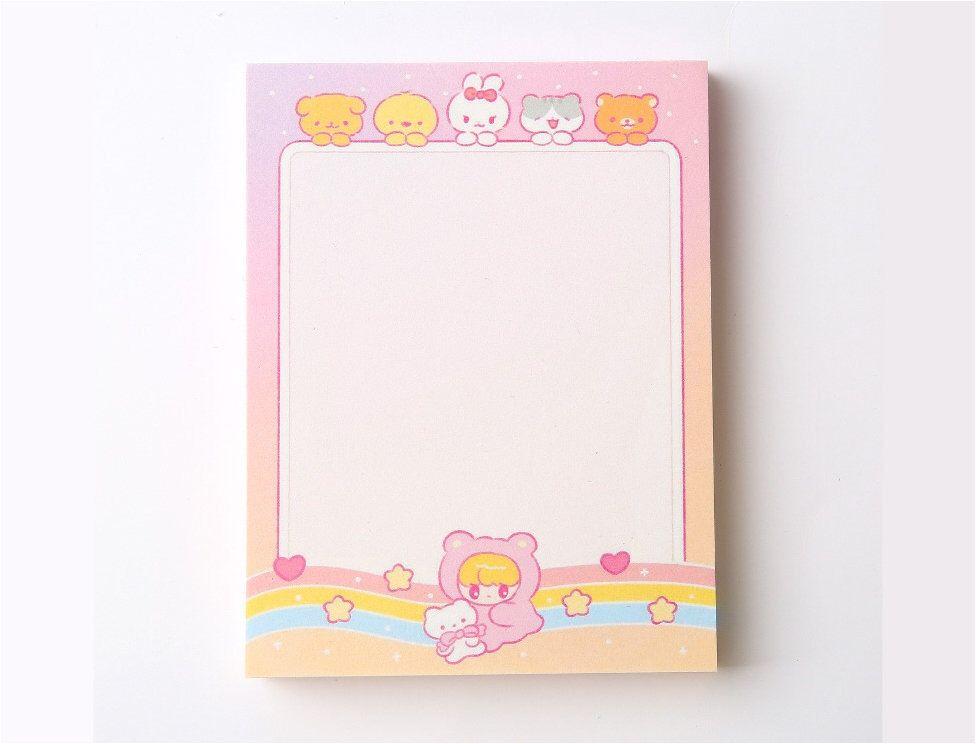 Handmade Cute Flowers Memo Pad Memo Note Pad for Journal Memo Note for Bullet Journal /& Planner Kawaii Memo Note Pad