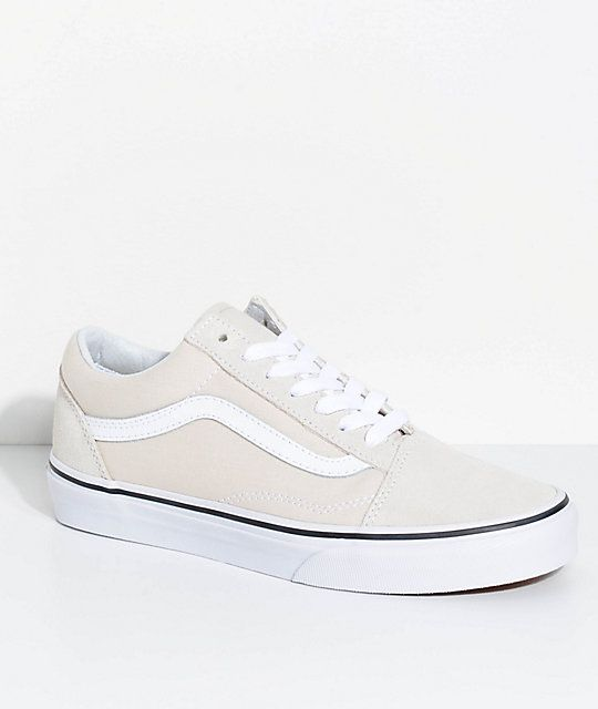 2c7d38315a Vans Old Skool Birch   True White Skate Shoes in 2019