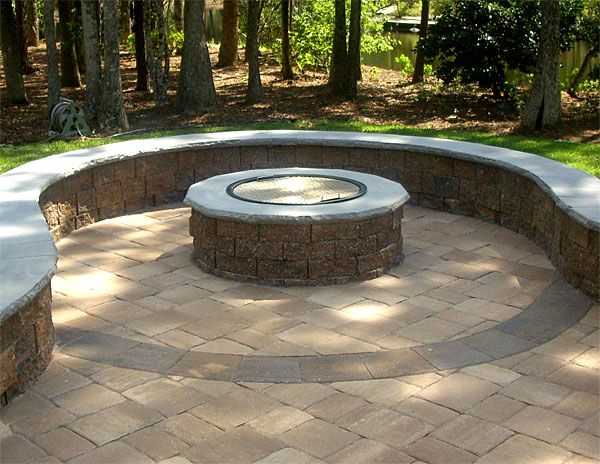 Paver Patio & Firepit With A \