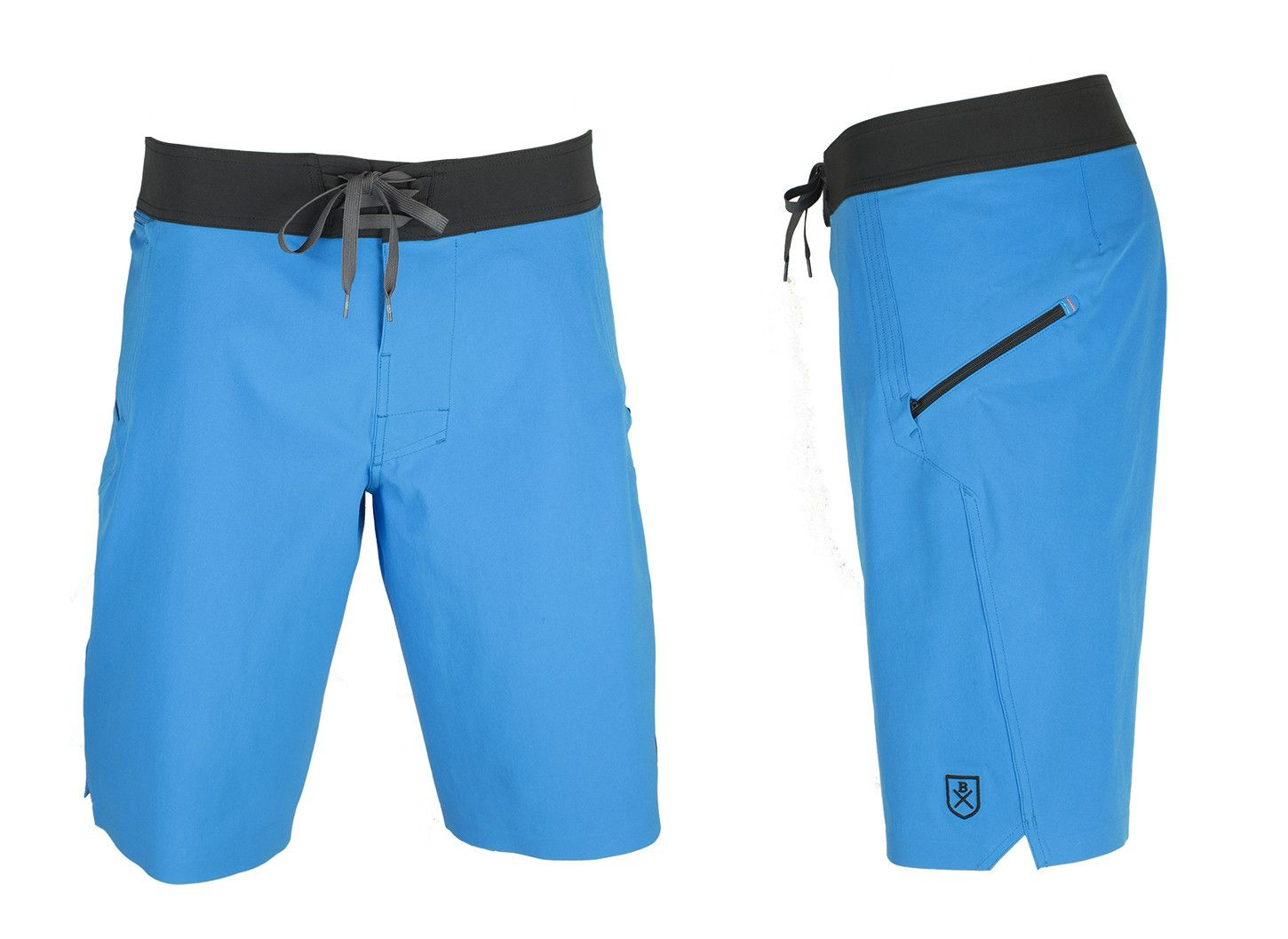 6abfbfdcd8 The Spartan Board Shorts in Pacific Blue & Almost Black - The World's  Finest Waterwear