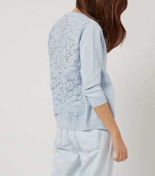 Pale Blue Lace Back Cardigan | Cardigans For Men | Pinterest