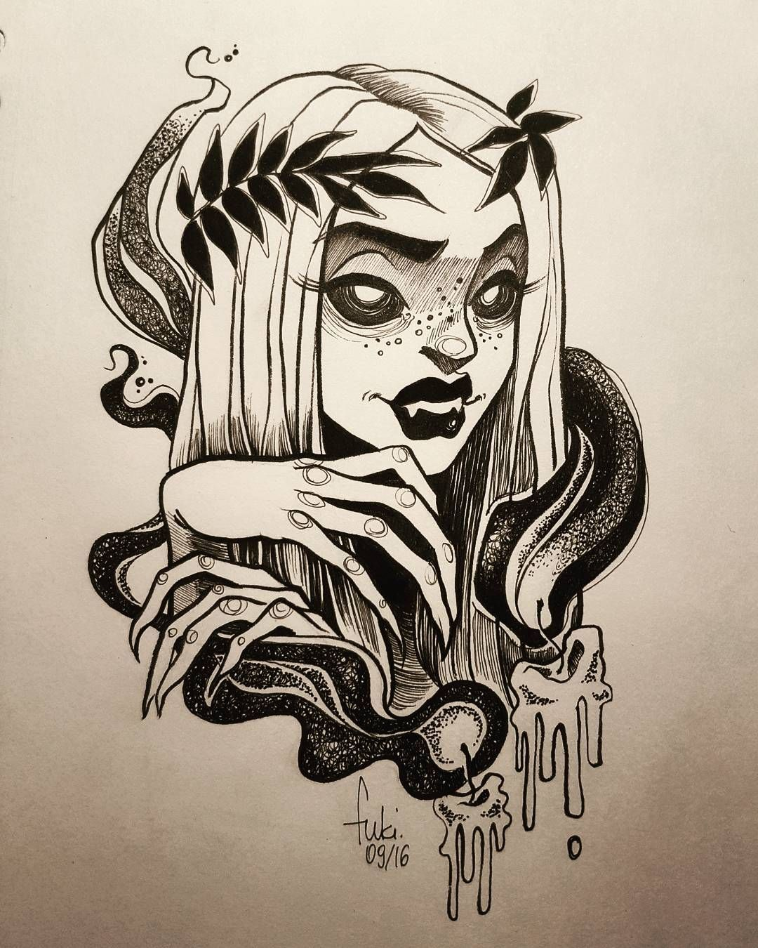 Tattoo uploaded by Xavier | Flash by Lou DC. #LouDC #girly ...  |Cool Drawings Flash Girly