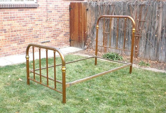 Antique Brass Bed Twin Frame 1800s Brass Bed Antique Beds Antiques