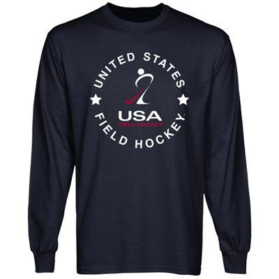 Usa Field Hockey Full Circle Long Sleeve T Shirt Navy Blue Field Hockey Outfits Field Hockey Field Hockey Shirts