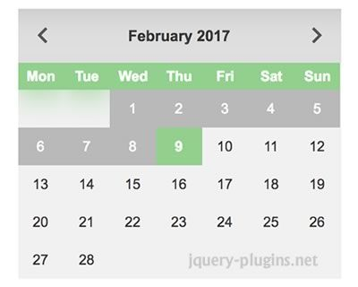 jQuery datepicker – Futuristic Datepicker for Web #picker #date #API