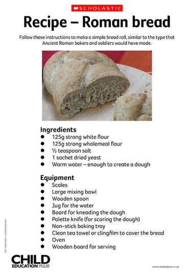 Follow these instructions to make a simple bread roll similar to i wish id found this link before we made our roman dish for school homework a simple roman bread recipe forumfinder Images