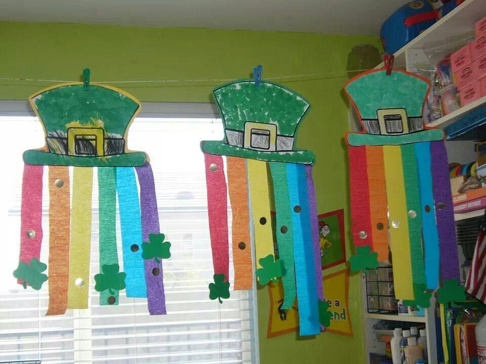 St.Patricks Day hat & rainbow