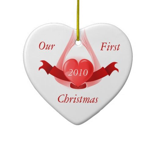 Our First Christmas Winged Heart Ornament