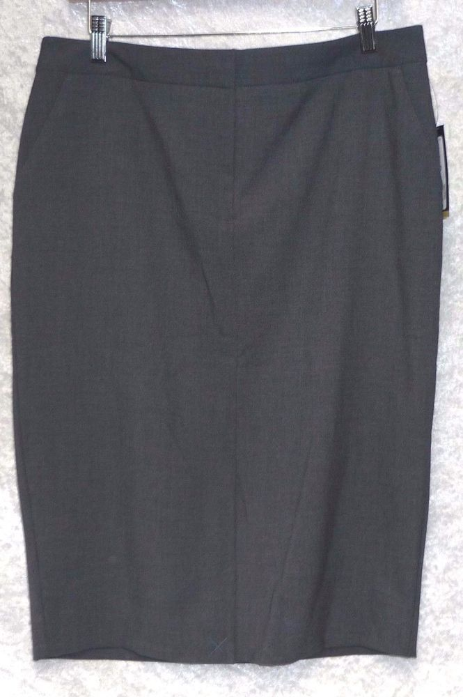 Worthington Womens Pencil Skirt Lined Admiral Grey Heather size 10 12 NEW  16.99 http:/