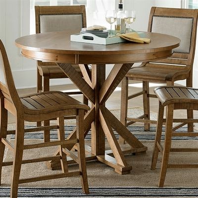 progressive furniture willow round counter height dining table rh pinterest com
