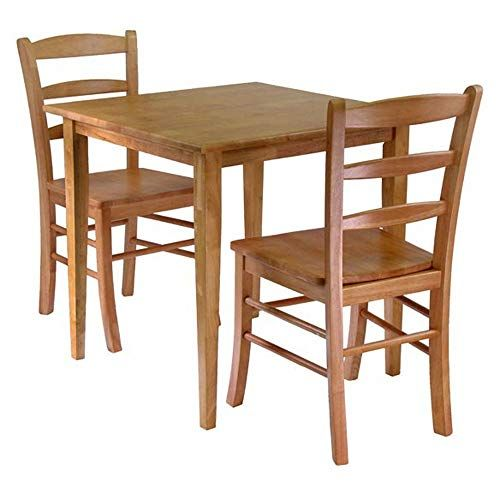 e01d911b7940 Svitlife Groveland 3-Piece Dining Set, Square Table with 2 Chairs Table  Chairs Dining