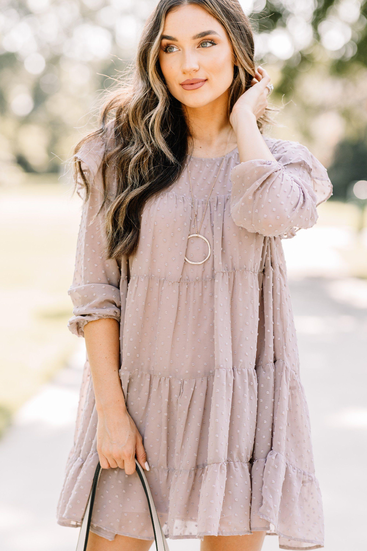 Better Off Latte Brown Babydoll Dress In 2020 Dresses Babydoll Dress Feminine Dress