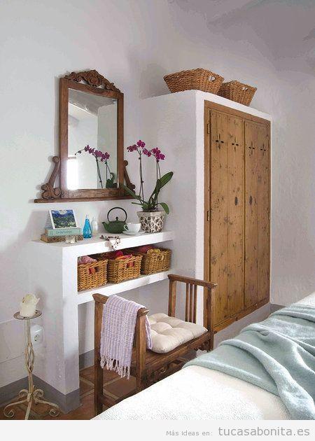 Decoraci n de casa de campo peque a y r stica dormitorio for Decoracion casas de campo pequenas