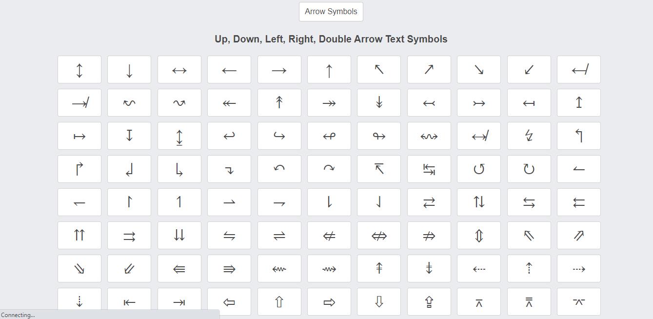 Arrow Symbols Text Symbols Arrow Symbol Right Arrow Symbol