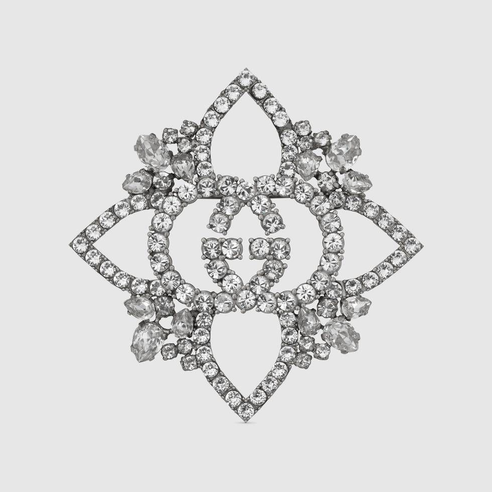 Gucci Crystal flower brooch 8iVycHZ