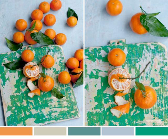 color loving :: green & orange