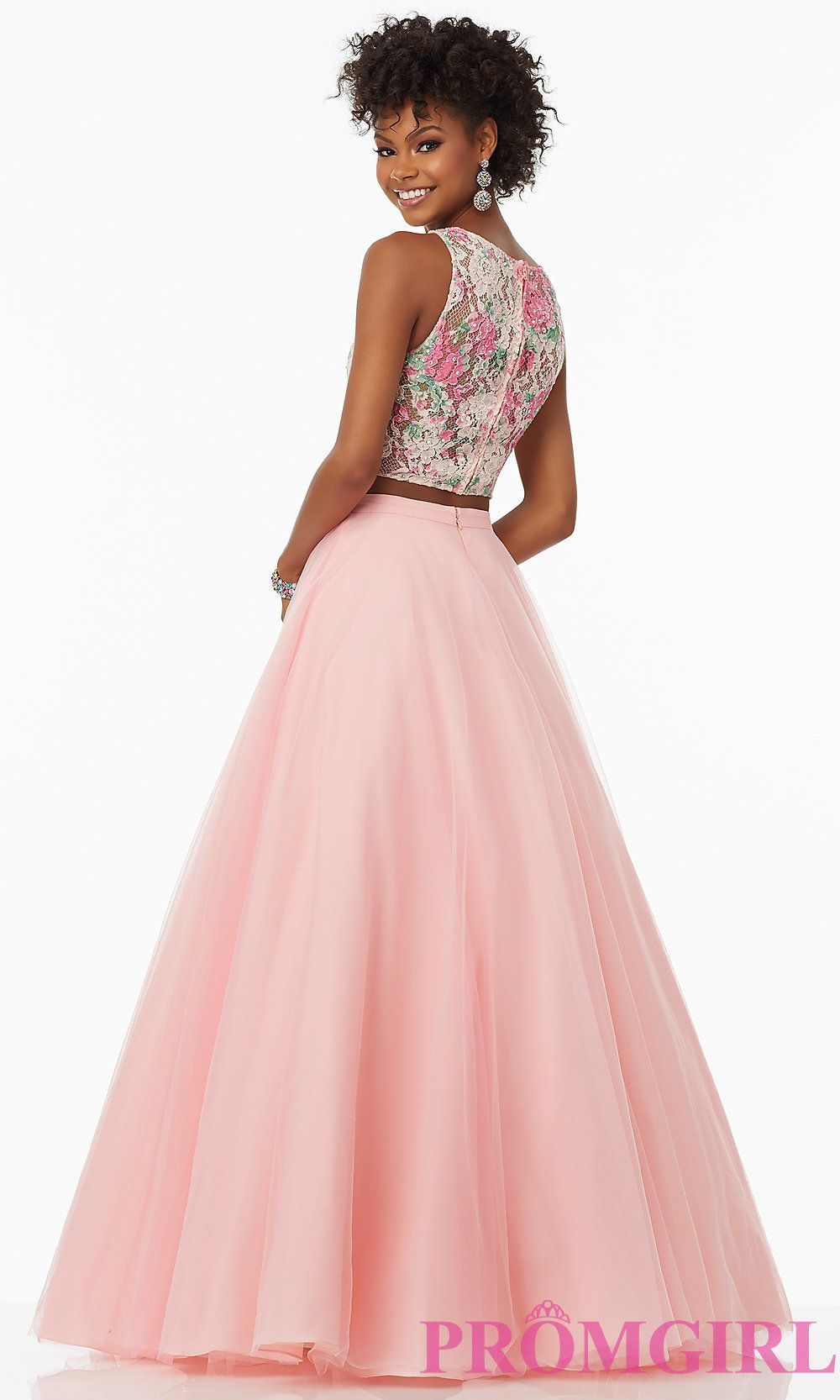 Ball Gown Style Pink Two Piece Prom Dress | Dresses | Pinterest ...