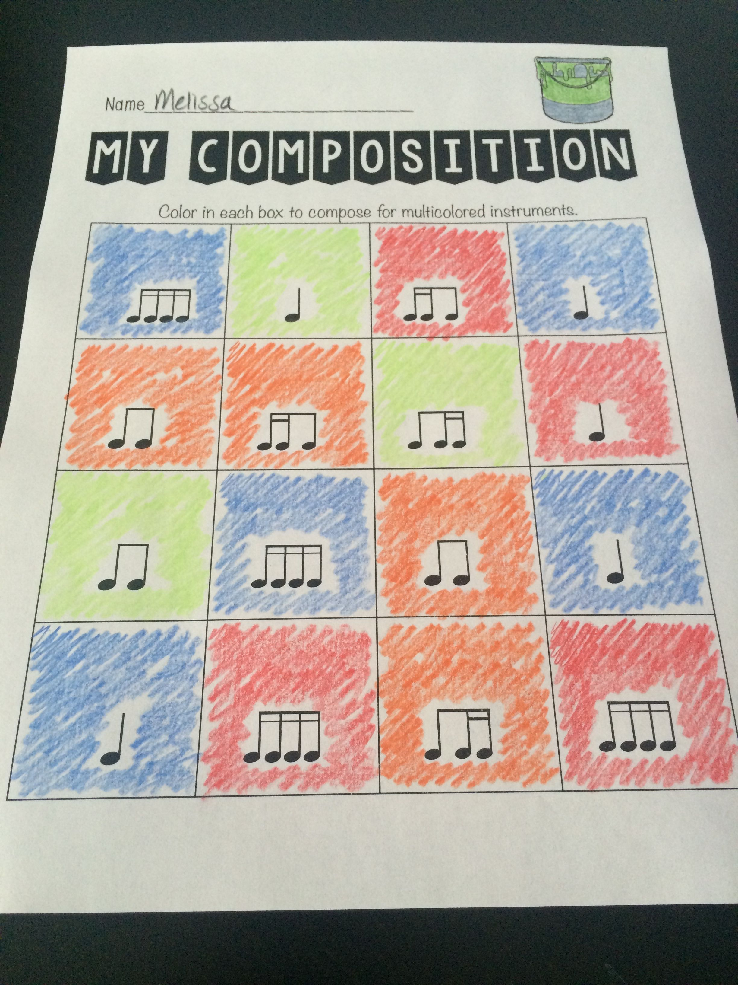 Color Composing For Young Musicians Musicisessential