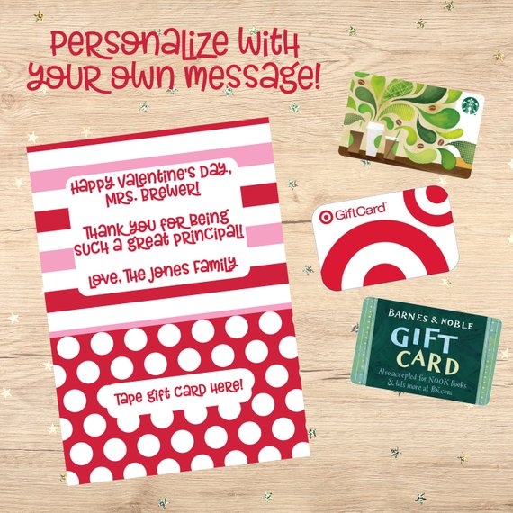 picture about Barnes and Noble Printable Gift Card referred to as Valentine Reward Card, Instructor Present, Reward Card Holder