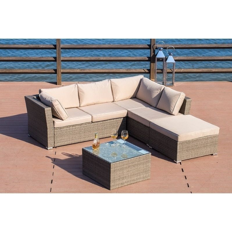 Surprising Patio Festival Flamenco Luxury Wicker Sofa Sectional Set Unemploymentrelief Wooden Chair Designs For Living Room Unemploymentrelieforg