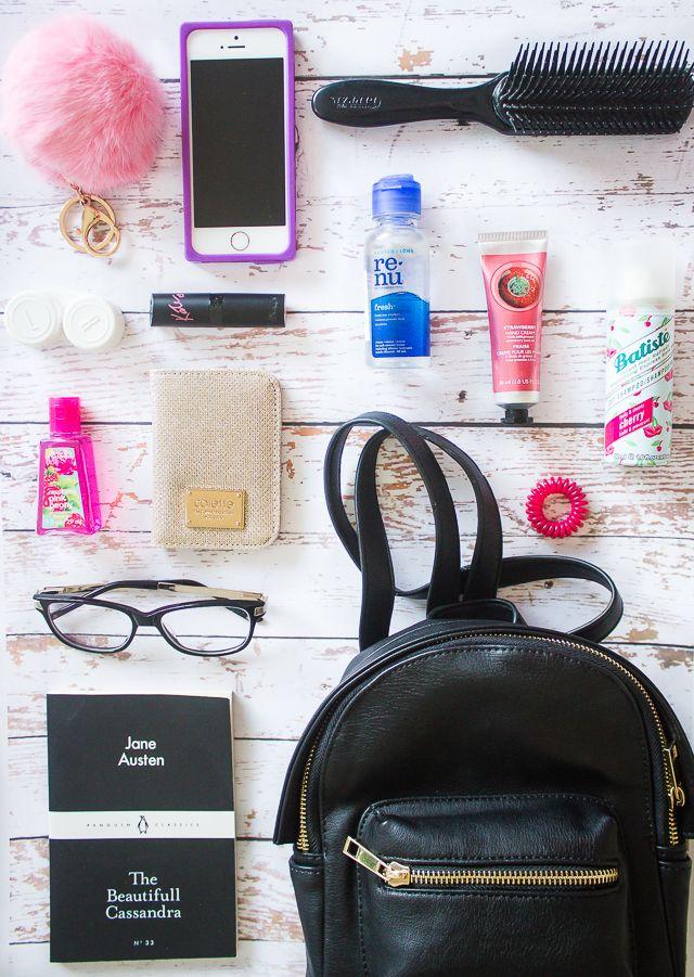 What S In My Mini Backpack School Bag Essentials Backpack