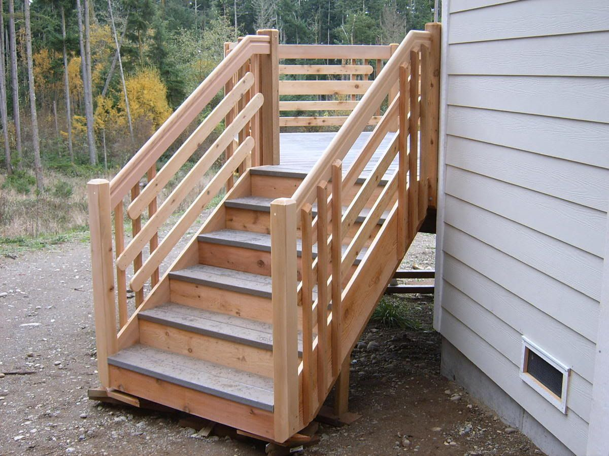 Best This Shows A Typical Stair With Two 2X6 In This Case Trex 400 x 300