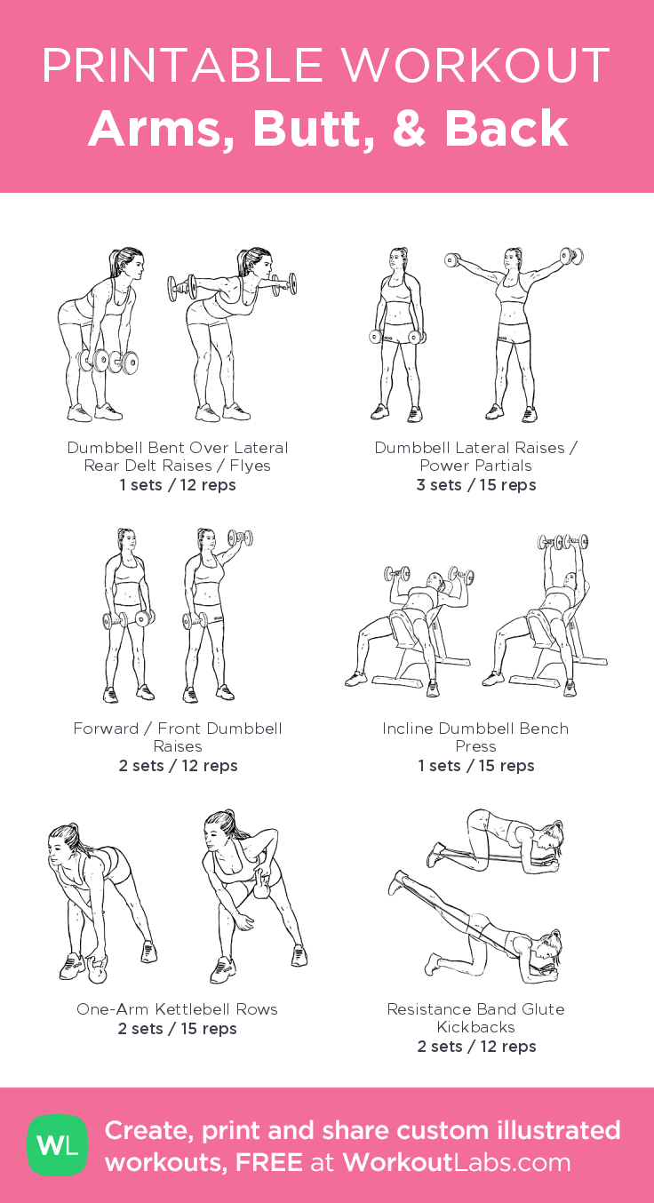 Photo of Arms, Butt & Back · WorkoutLabs Fit – healthy – #amp #Arme #Fit #Healthy # Rü …
