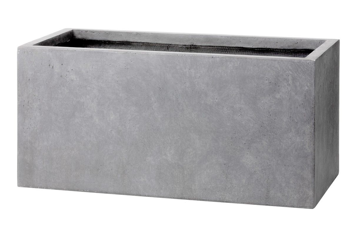 intratuin glasfiber planter bak grey concrete optic beton optik