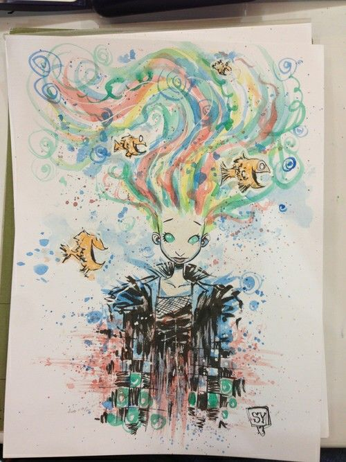 Delirium- from Neil's SANDMAN. By Skottie Young, take from comic vine.