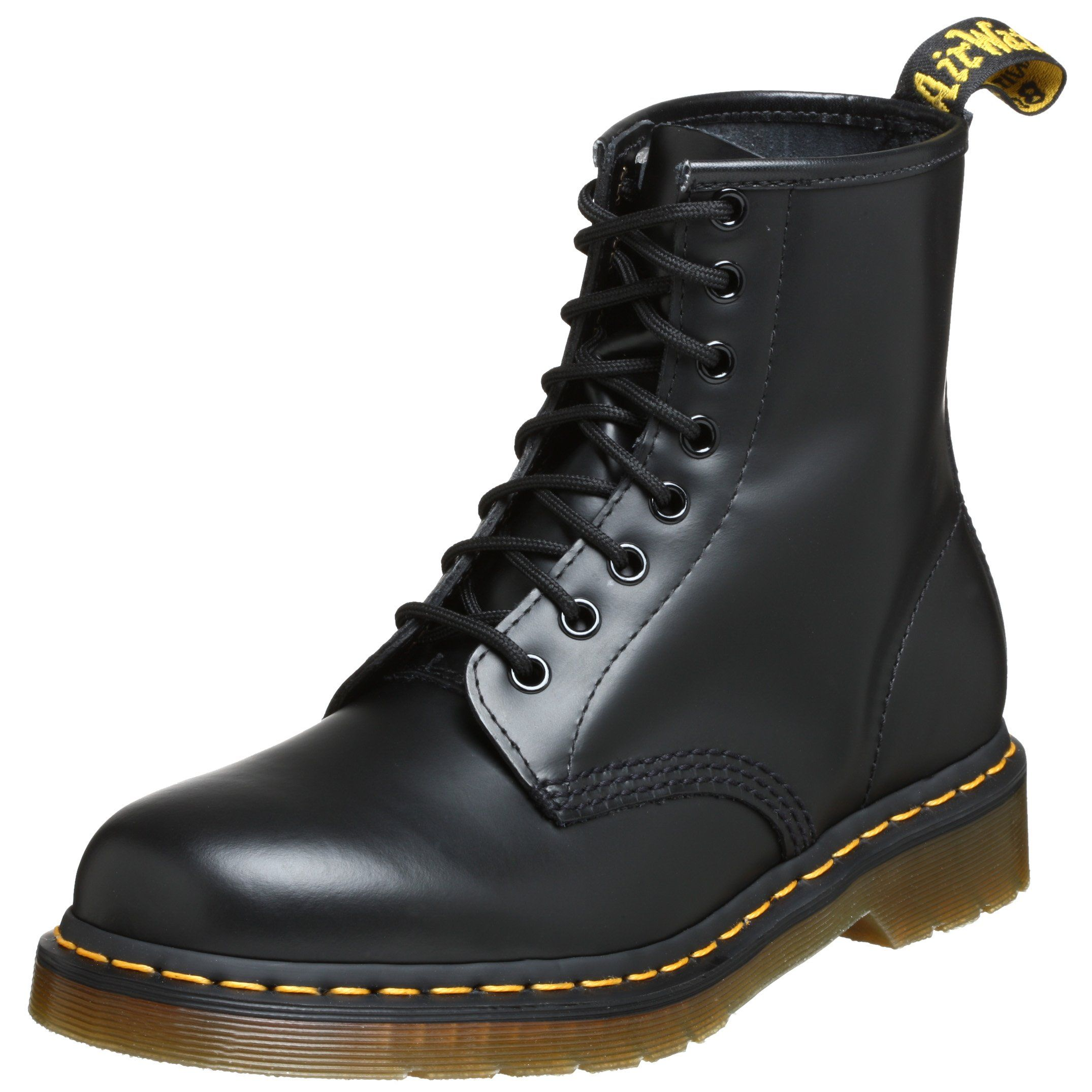 Dr. Martens 1460 Originals 8 Eye Lace Up Boot,Black Smooth Leather,9 UK (US Women's 11 M/US Men's 10 M)