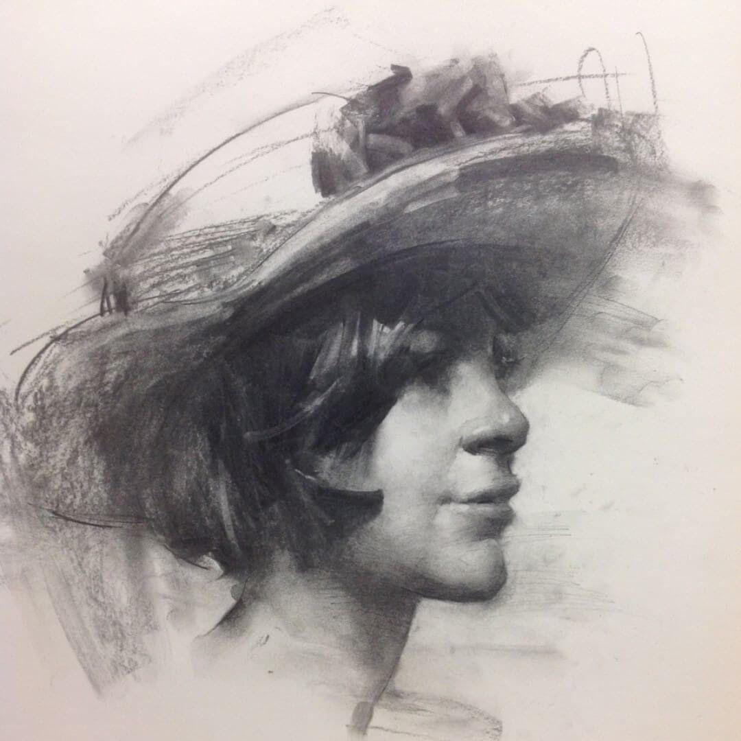 ZHAOMING WU | Kohle zeichnungen, Skizzenbuch kunst