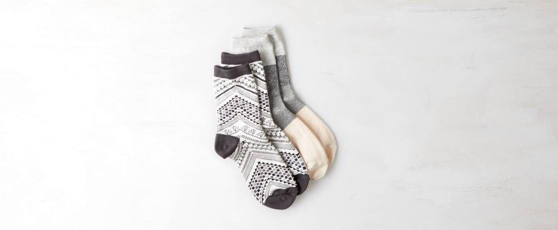 Printed Mid-Crew Sock