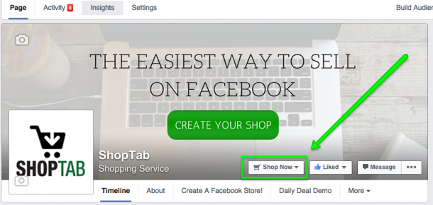 How To Set Up Your Shop Now Call To Action Button In Facebook