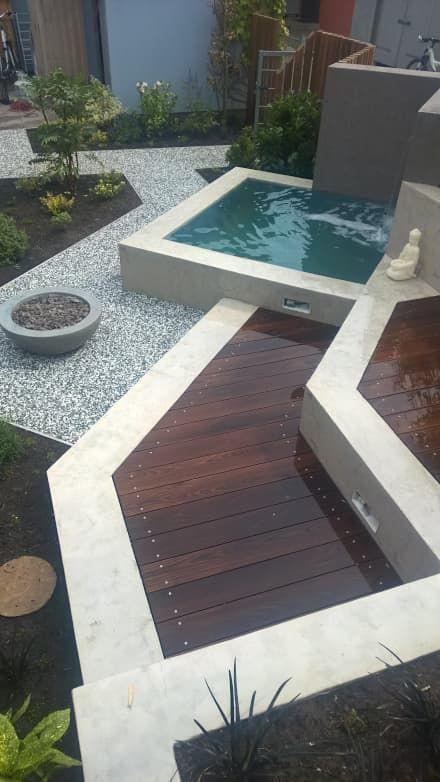 Garten, Gartengestaltung, Ideen und Bilder Plunge pool, Pool spa - gartengestaltung reihenhaus pool
