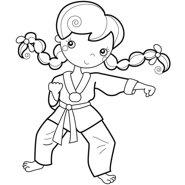 Pin On Karate Kid Coloring Page