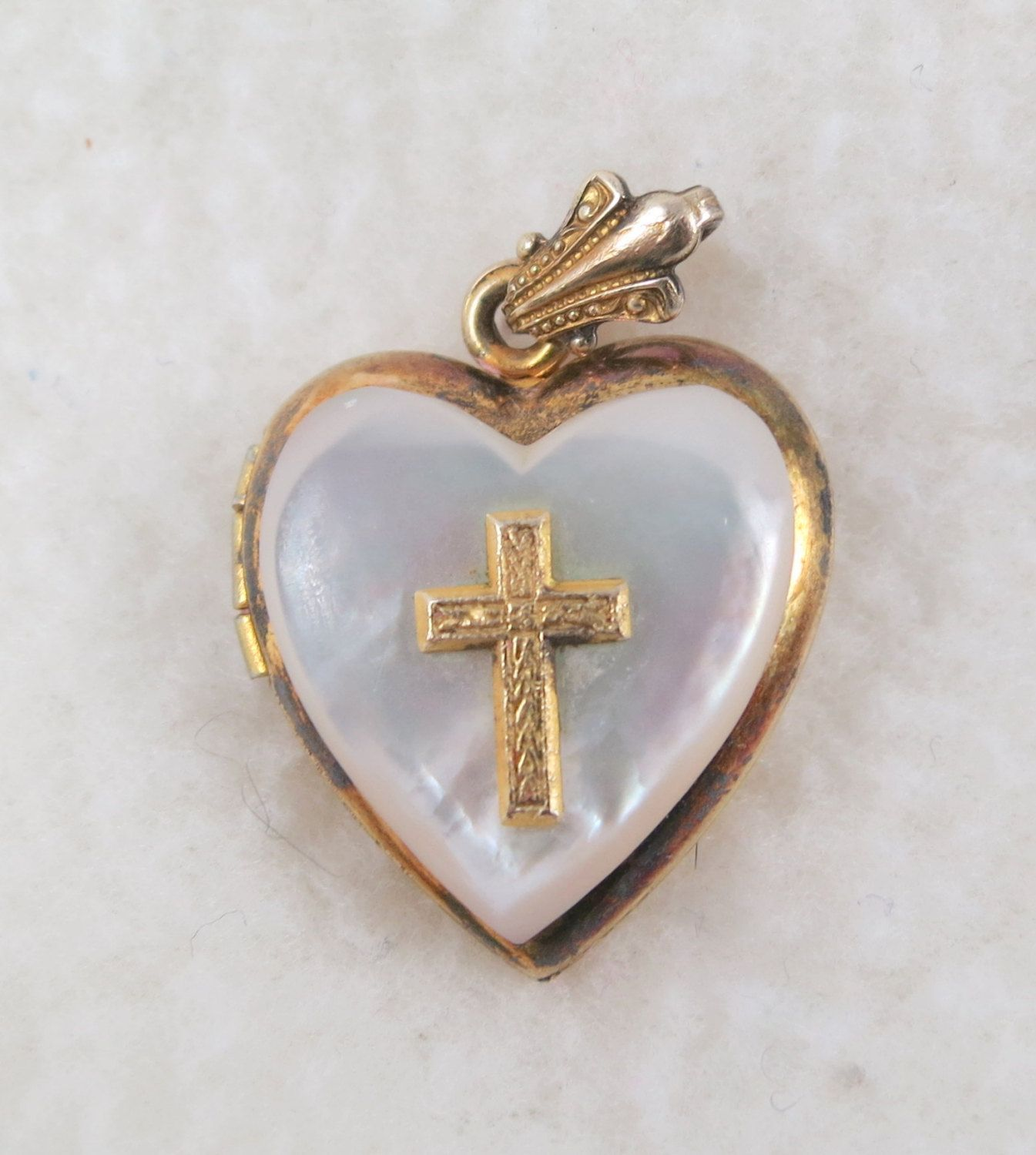 cross pendant products girls necklace small baptism sterling ss locket silver heart lockets