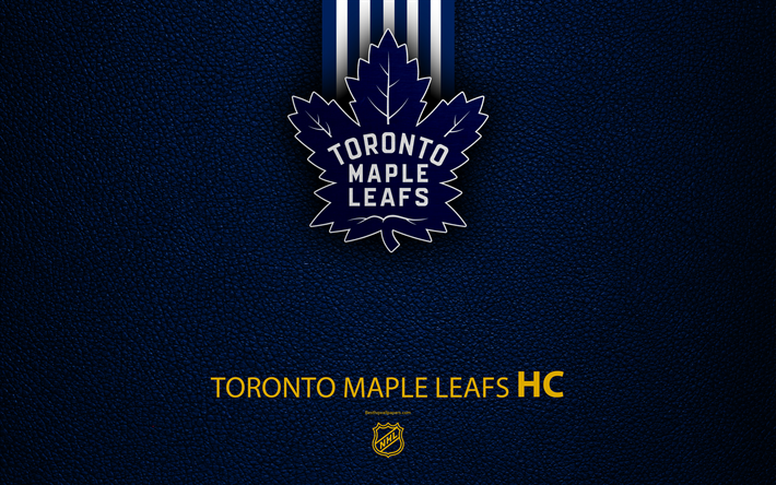 Download Wallpapers Toronto Maple Leafs HC 4K Hockey Team NHL Leather