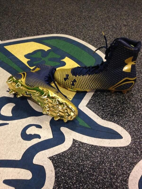 New Notre Dame football shoes by Under