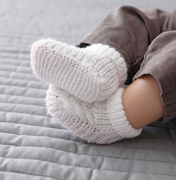 Modèle chaussons blancs Super Baby - Modèles Layette - Phildar ...