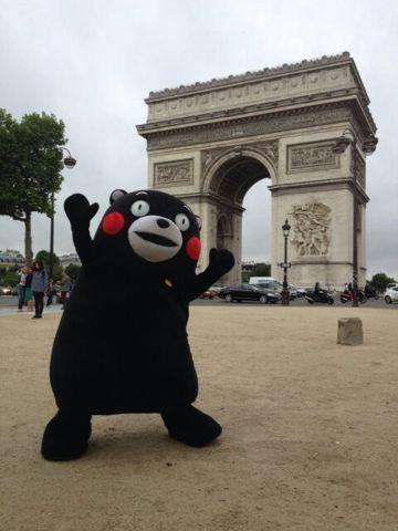 Kumamon in Paris