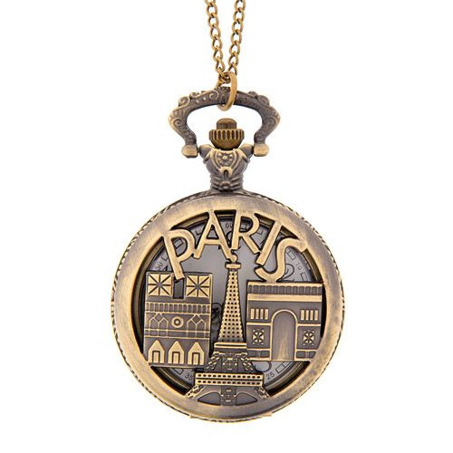Antique gold paris watch locket pendant necklace 16 claires antique gold paris watch locket pendant necklace 16 aloadofball Image collections