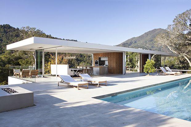 Visite Californie Splendide Villa Contemporaine Blogdeco Factorychic Villa Contemporaine Villa Californienne Maison Contemporaine