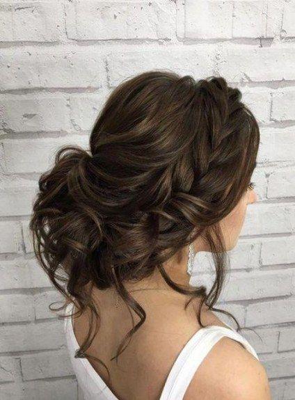 50 trendy wedding hairstyles half up half down braid side