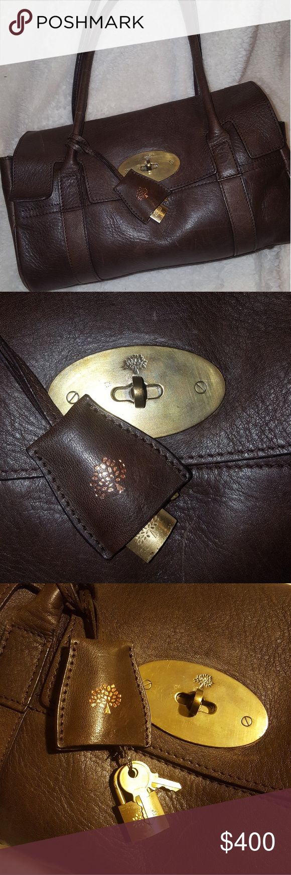 Vintage Mulberry Bayswater Great condition vintage Mulberry Bayswater bag. Measures 13 x 7 with an 8 inch drop in the handle. Light scuffs on the exterior leather. Willing to trade this bag, make an offer. Mulberry Bags #mulberrybag