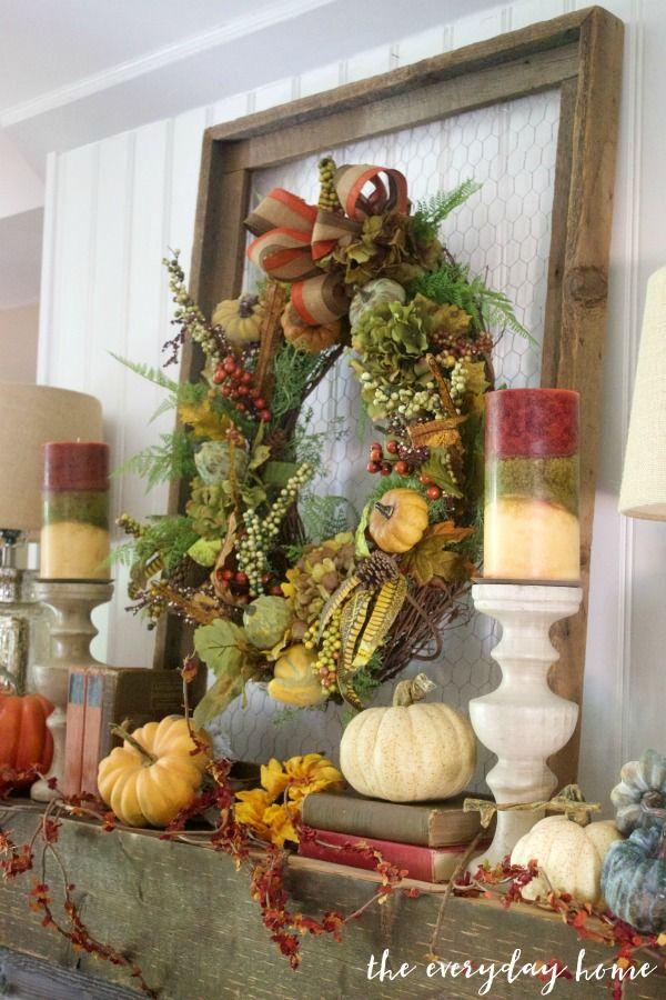 A Rustic Farmhouse Mantel Mantels, Wreaths and Easy - bulk halloween decorations