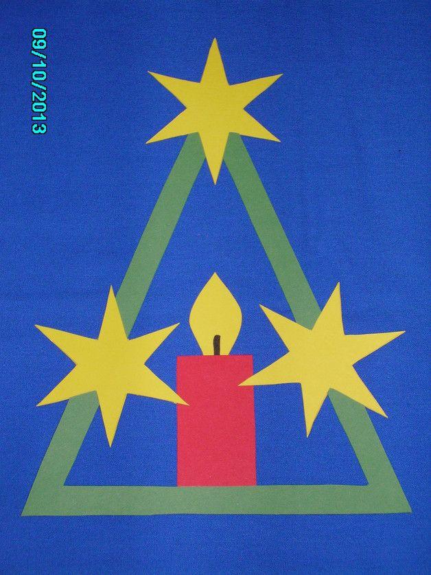 fensterbild tonkarton kerze stern advent weihnacht. Black Bedroom Furniture Sets. Home Design Ideas