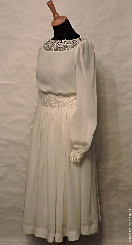 0bfed45be0bc808 Купить Платье Невесомость - белый, однотонный, айвори, белое платье, платье  с кружевом, шерстяное платье