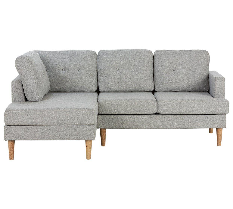 Buy Argos Home Joshua Left Corner Fabric Sofa Light Grey