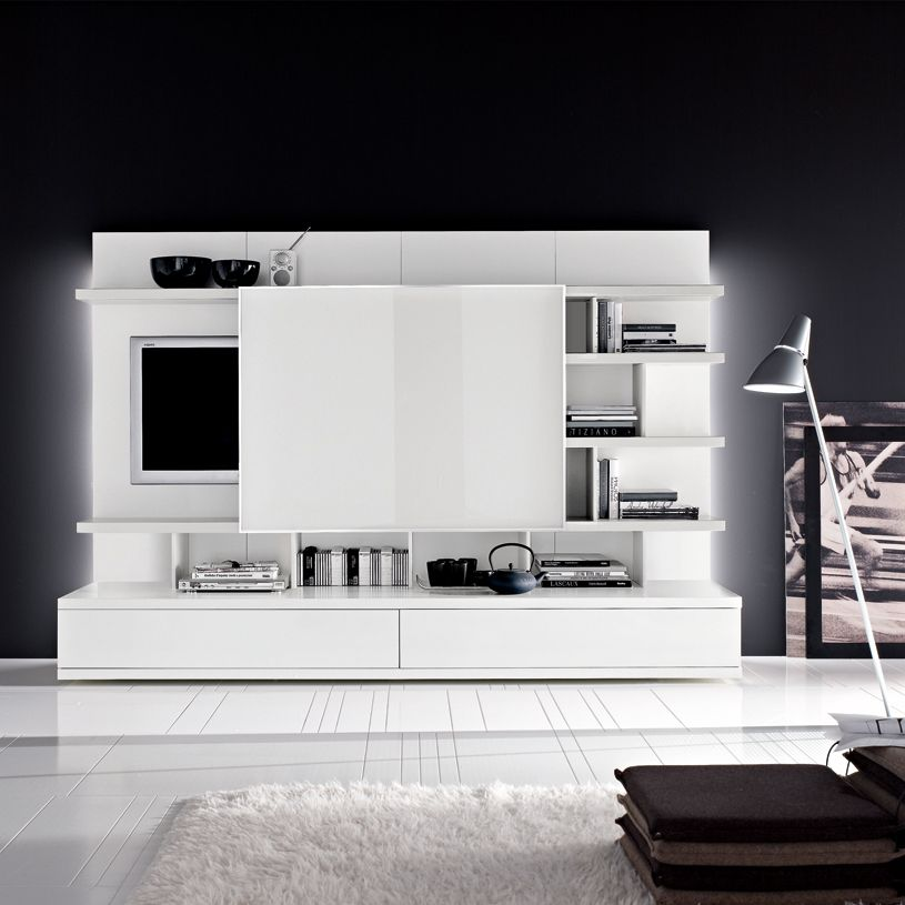 Living Room Storage Systems: Odion Free Standing TV/Wall System B905