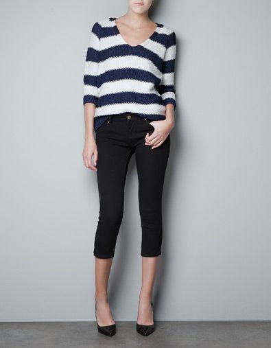 zara striped sweater $59.90